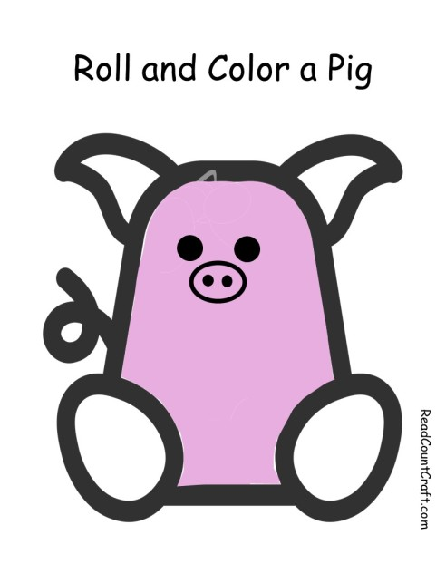 Color and Roll a PIg