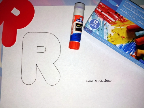 R is for Rainbow Activity