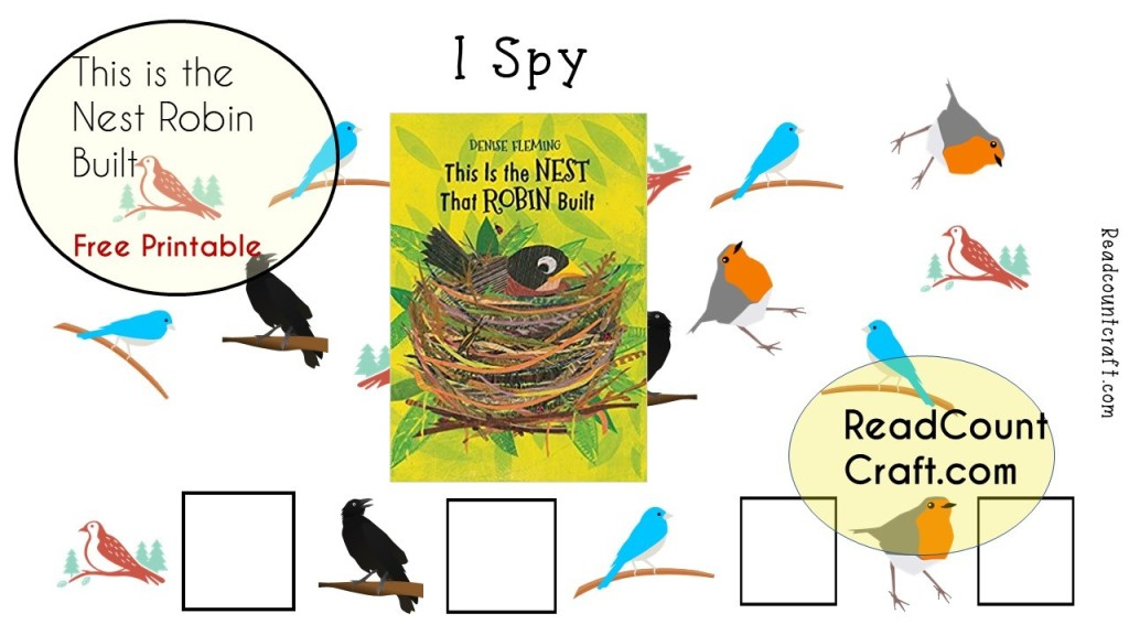 I spy printables for kids free counting literacy activity