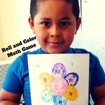 Roll and Color a Flower Games Pack for young learners