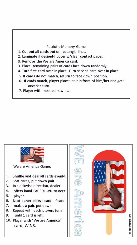 July 4th games free printable