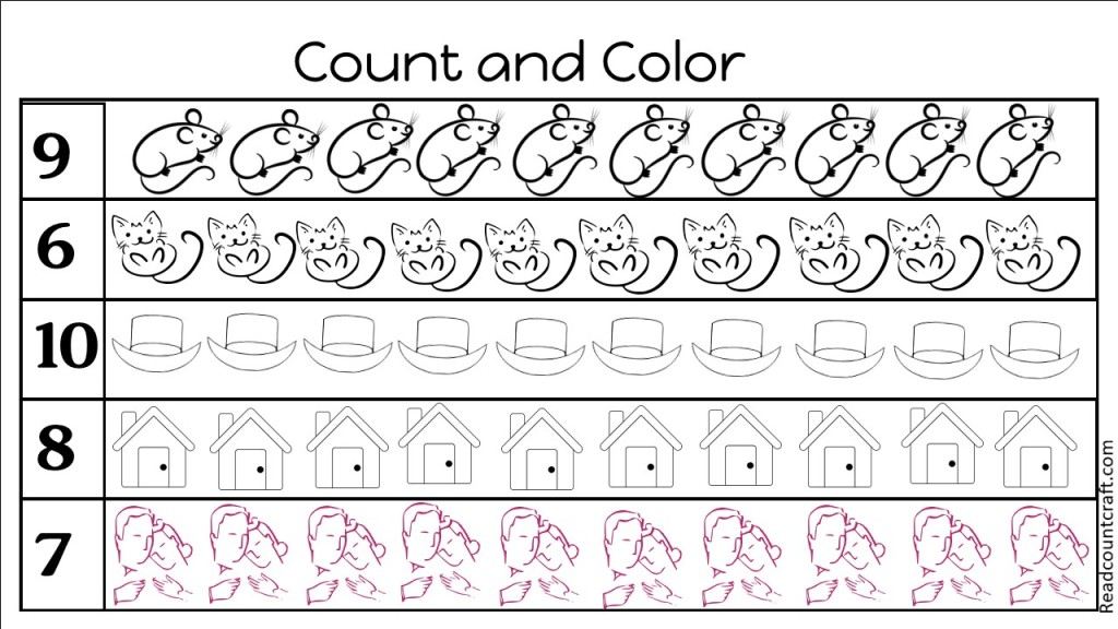 House that Jack Built count and color free printable pack
