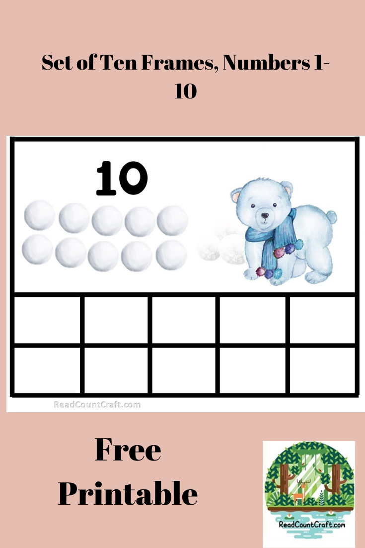 Preschool Math Printables Free -Ten Frames