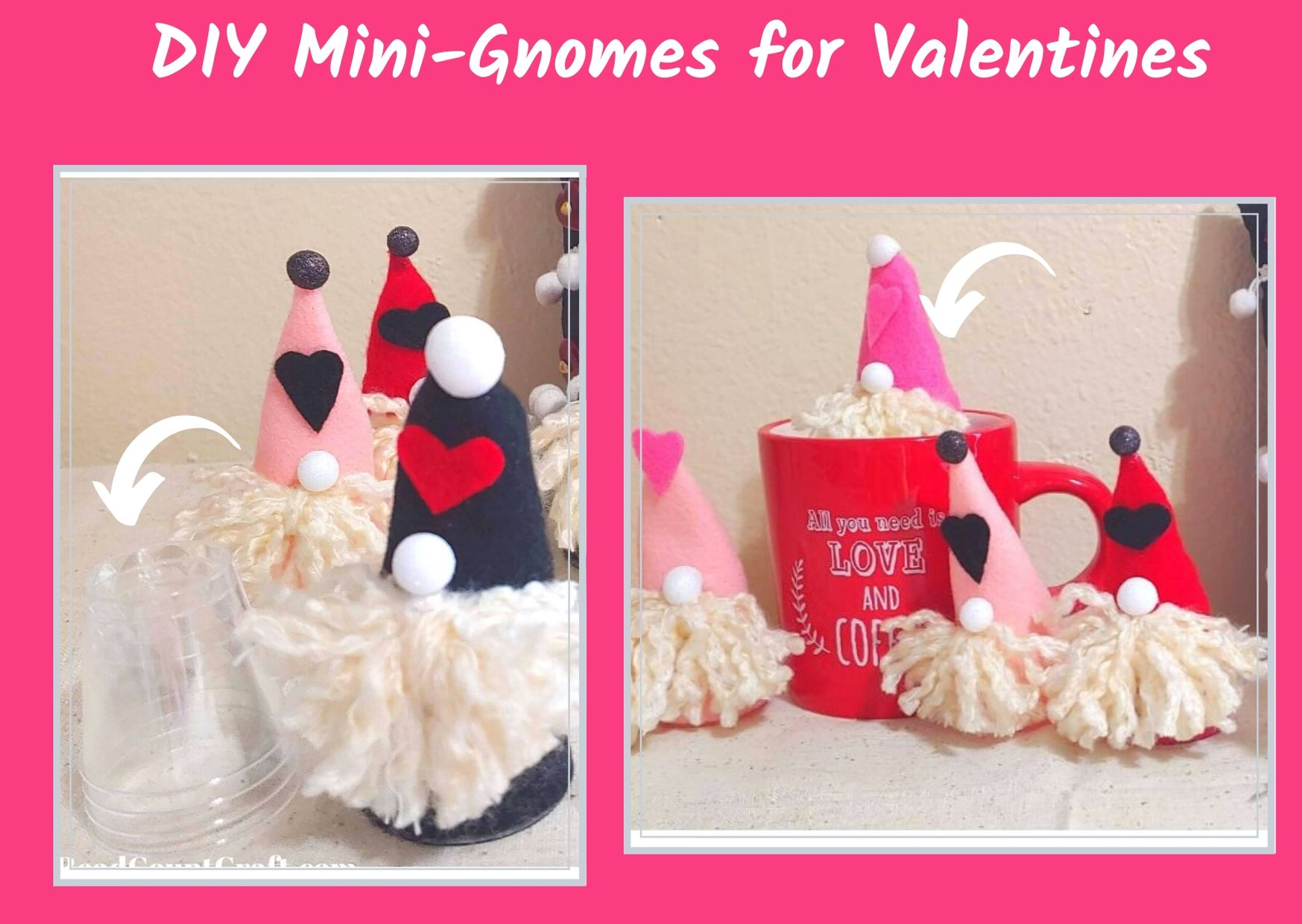 DIY Mini-Gnomes for Valentine's Day
