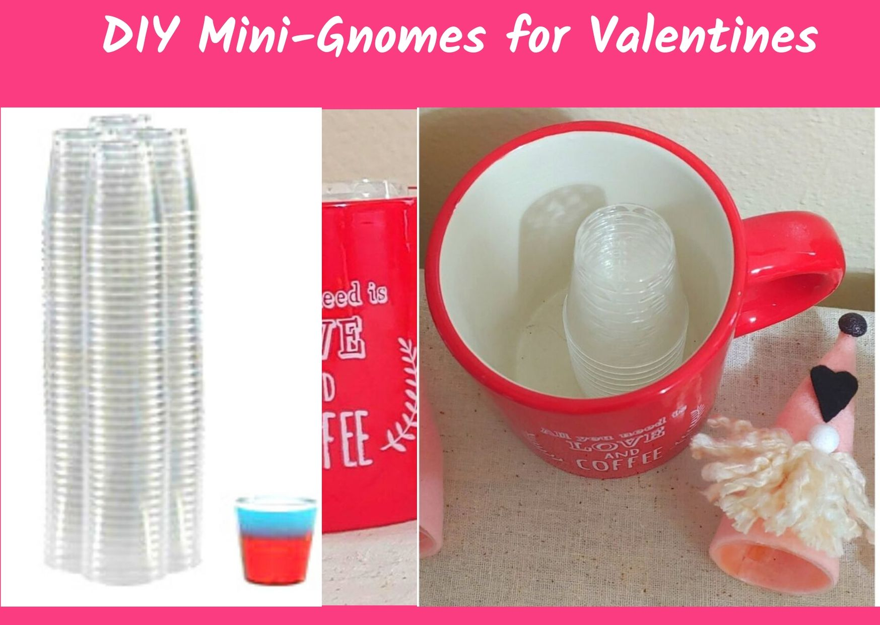 DIY Valentine's Day Mini-Gnomes