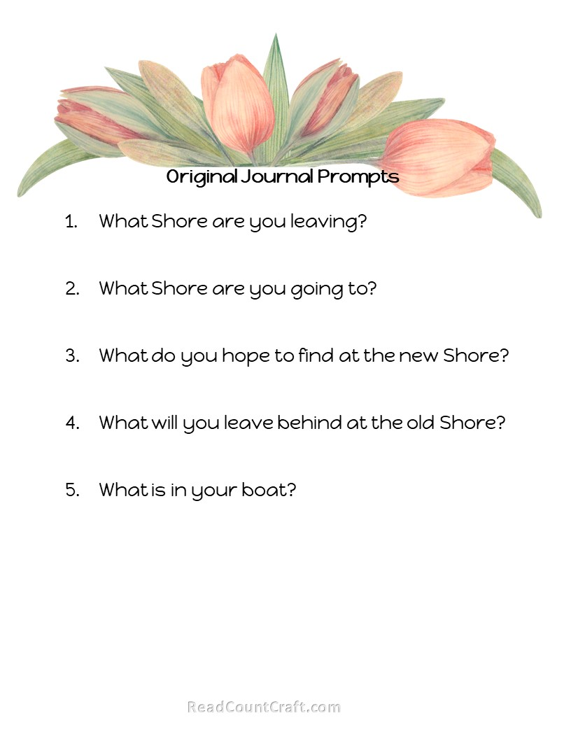 Original Journal writing prompt leaving the shore