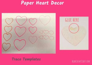 DIY HEART DECORATIONS- heart wall hanging
