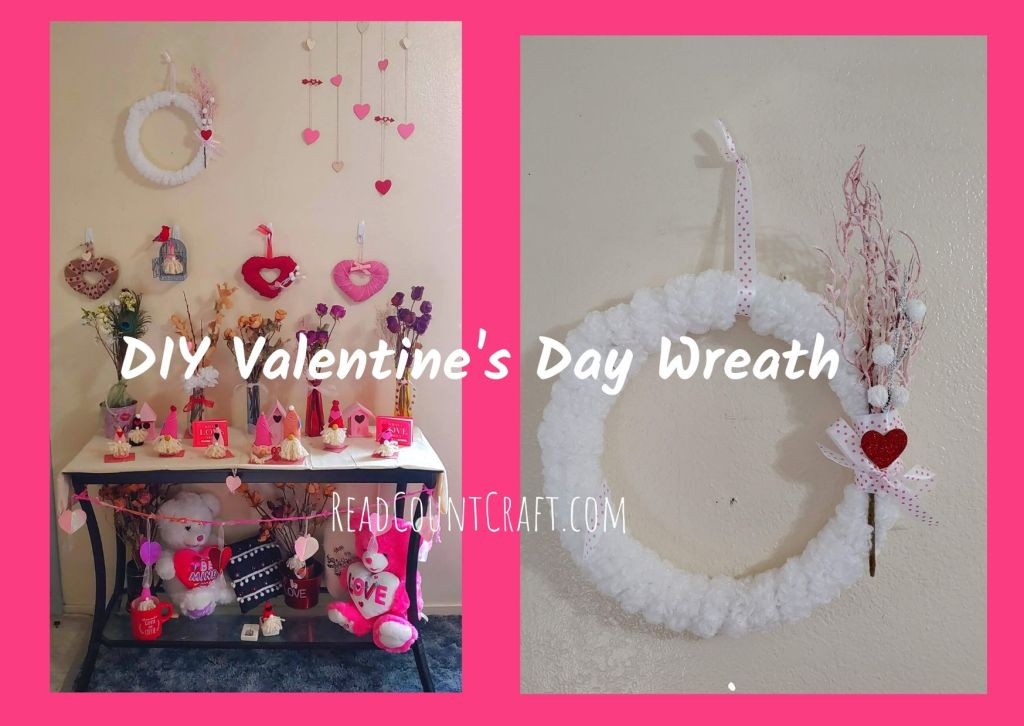 DIY Valentines day wreath