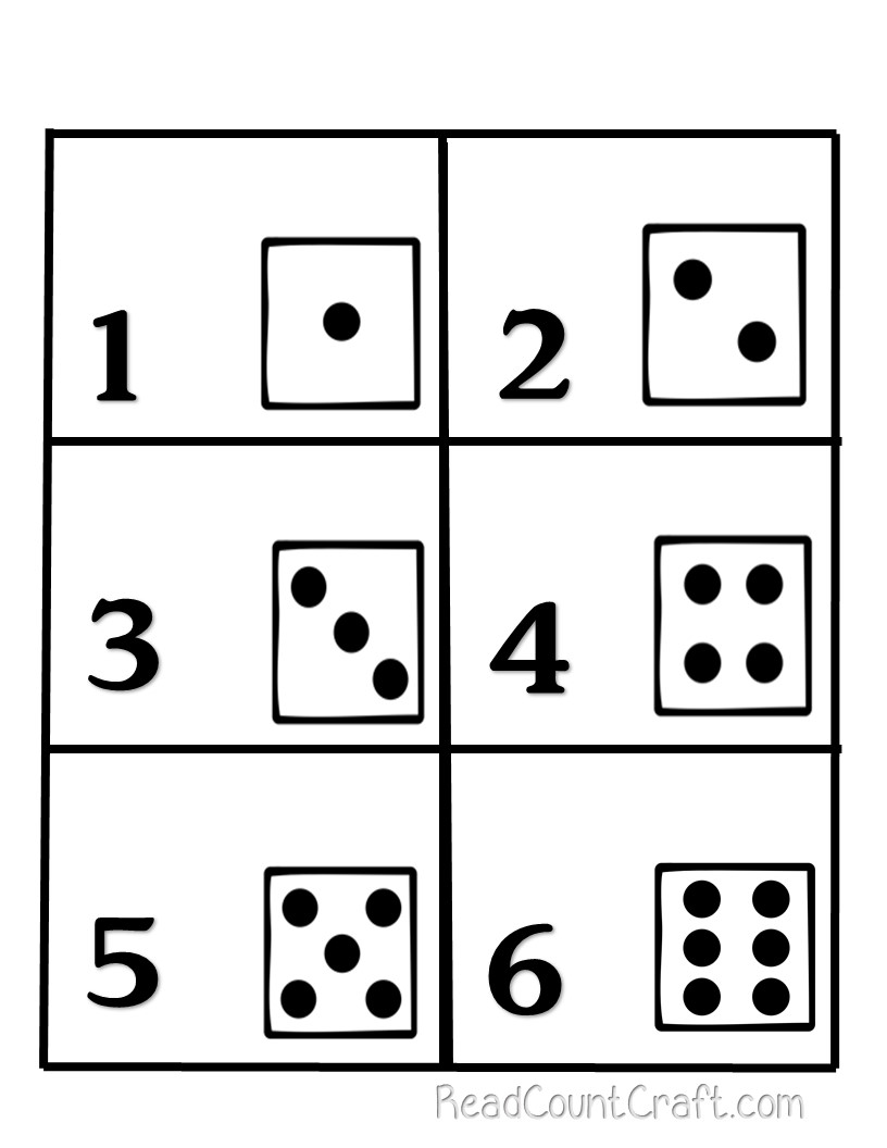 Preschool Math Activity Memory Game