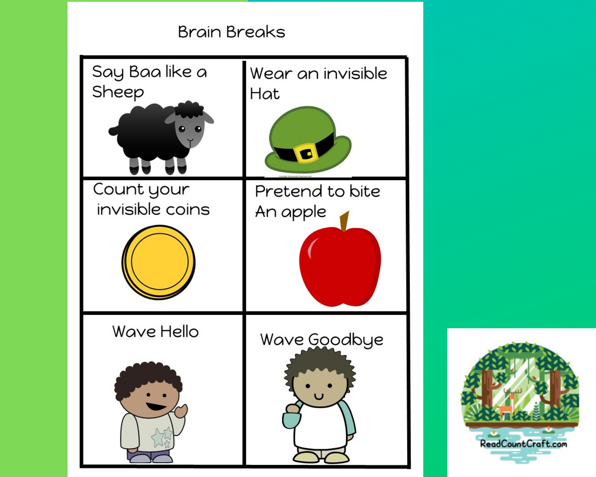 March Preschool Brain Breaks