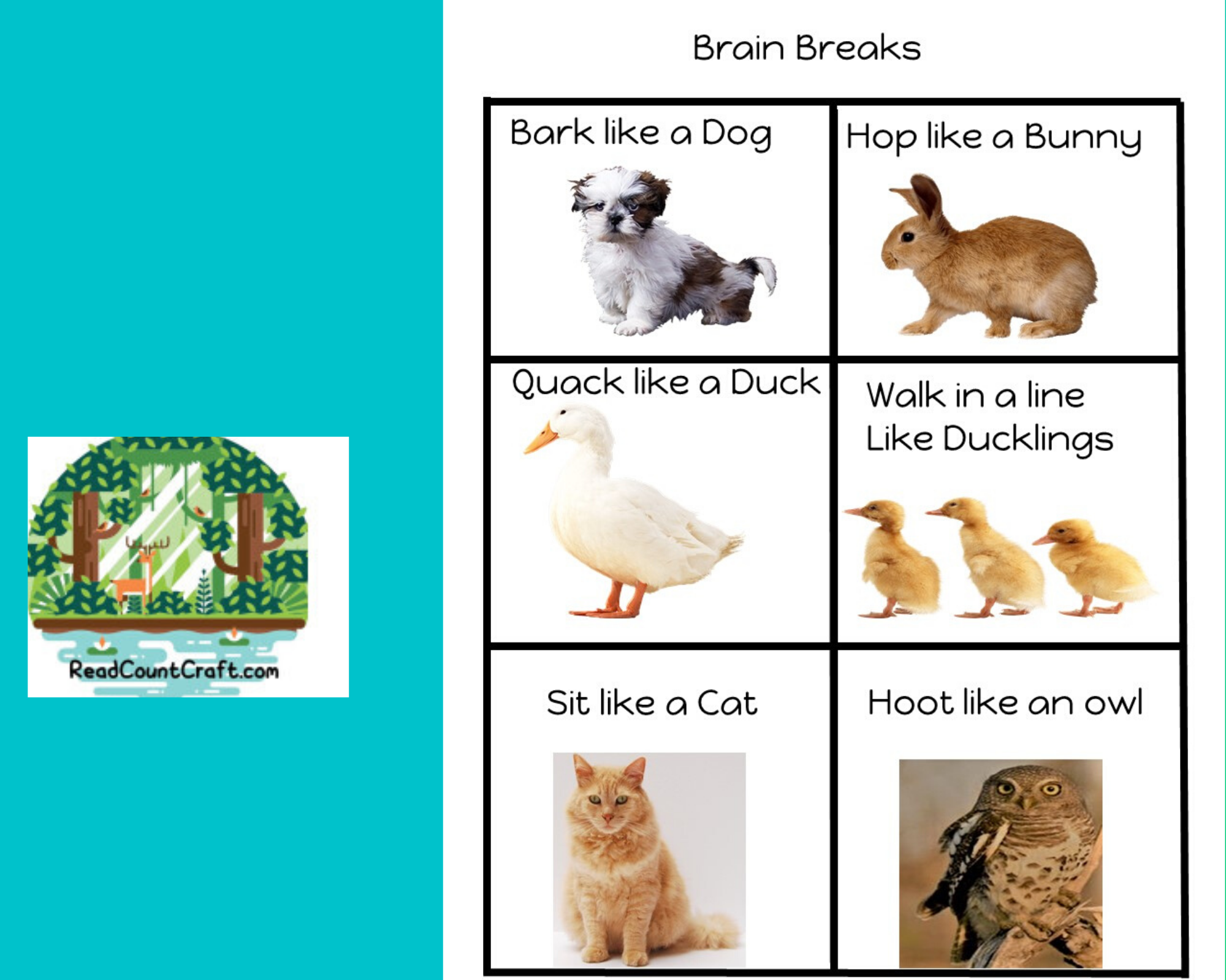Preschool Brain Break Cards