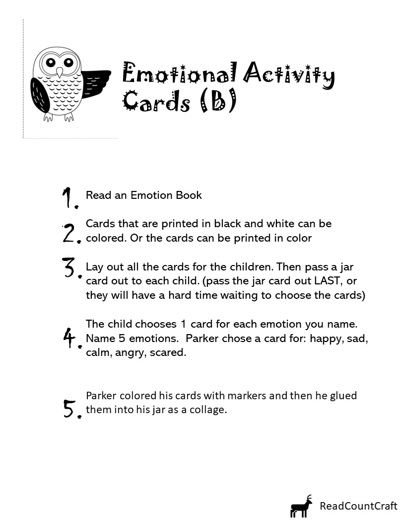 Kids emotions activities collage