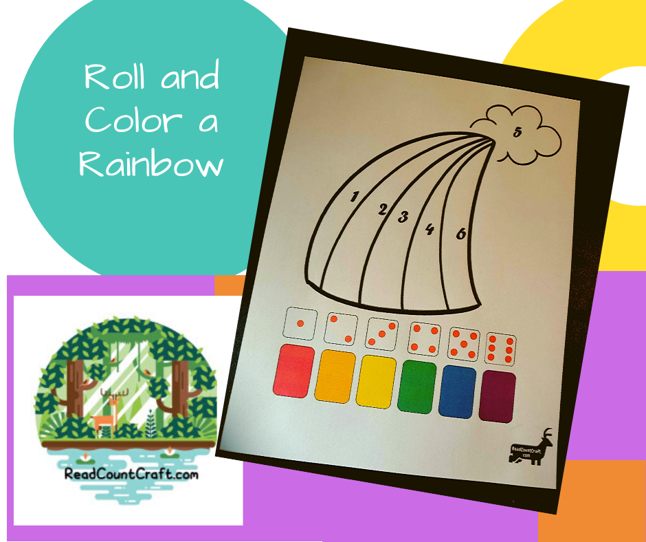 roll and color a rainbow numberidreadcountcraft