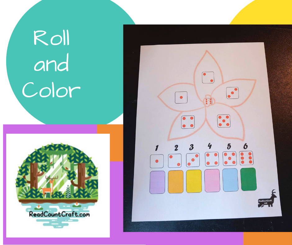 roll and color preschool math games spring