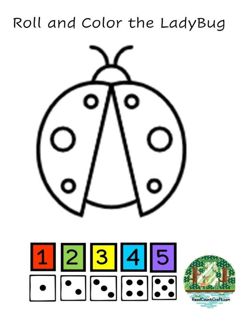 roll and color the ladybug preschool math game